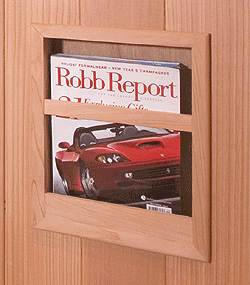 Cedar Magazine Rack