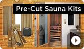 Pre-Cut Cedar Home Sauna Kits