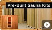 Pre-Built Cedar Home Sauna Kits