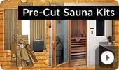Pre-Cut Cedar Home Sauna Kits